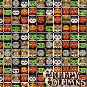Creepy Columns Halloween Matching