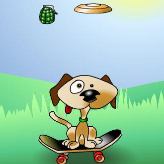 Frisbee Dog: Avoid the Grenades