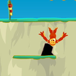 Monkey Cliff Diving: Crunch Go the Monks