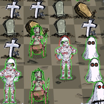 Tomb Chess: Control the Graveyard