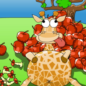 Giraffe Above: Eat All the Apples in Africa